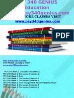PSY 340 GENIUS Education Expert/psy340genius.com