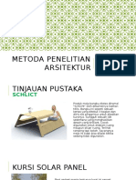 Metoda Penelitian Arsitektur