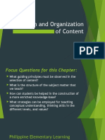 Unit III Chapter II Selection and Organization of Content