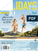 Holidays for Couples - April - September 2016