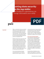 Pwc Data Security Report - Healthcare