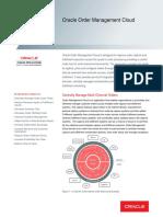 Oracle Order Management Cloud Datasheet