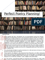 perfect poetry planning