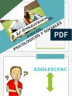 Cambios Fisicos Psicologicos y Sociales en El Adolescente