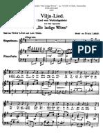 Lehar - Vilja Lied (Voice, Piano)