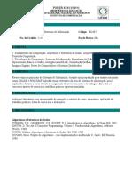 Ementa IEC487 - Tópicos de Sistemas de Informação