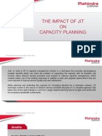 The Impact of JIT on Capacity Management