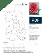 Folding Rose Pattern