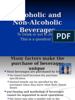 Alcoholic and Non-Alcoholic Beverages