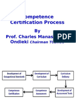 Competence Certification Process-Prof, Chairman