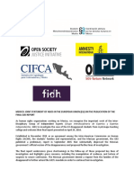 Statement on Mexico Brussels NGOs May 2016