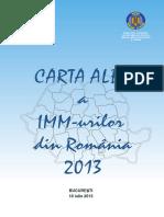 Carta Alba a IMM-urilor Din Romania 2013