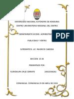 Informe de Publicidad y Ventas III Unidad