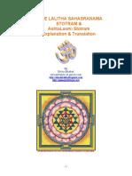Sree Lalitha Sahasranama Stotram & AshtaLaxmi Stotram Explanation & Translation