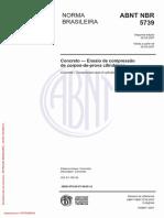 NBR 5739 - Concreto - Ensaio de Compressão de Corpos-De-prova Cilíndricos