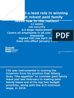 Community Service Society's role in passing paid family leave in New York state.