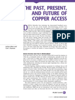 The Past, Present and Future of Copper Access