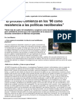 """Página_12 __ Dialogos __ """"El Proceso Comienza en Los '90 Como Resistencia a Las Políticas Neoliberales"""""""