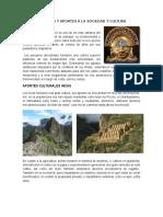 Características y Aportes a La Sociedad y Cultura Peruana