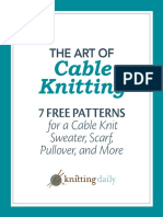 7 Free Cable Knitting Patterns Knitting Daily