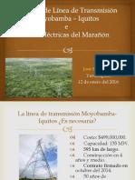 PUCP-Línea de Transmisión Moyobamba –Iquitos