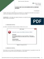 Erro Operação Causou Uma Falha de Número 20515 Ao Imprimir Relatório de Contas a Receber