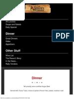 Dinner - Roscoz Steakhouse