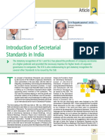 02 Introduction of Secretarial Standards in India