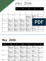 hannahs class schedule