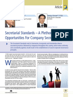 05 Secretarial Standards – a Plethora of Opportunities for Company Secretaries