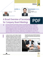 09 a Broad Overview of Secretarial Standards for Company Board Meetings