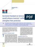10 Secretarial Standards on General Meetings Would Enhance Investors' Confidence and Strengthen Their Position