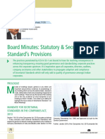 11 Board Minutes Statutory & Secretarial Standard's Provisions