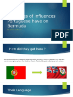 the types of influences portuguese have on bermuda