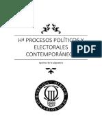Hª de los Procesos Politicos  y Electorales Contemporáneos