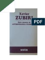 - Siete Ensayos de Antropologia Filosofica Zubiri Xavier
