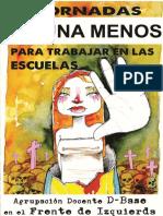 Jornadas #NiUna Menos Para Las Escuelas. DOCENTES D-BASE- FIT