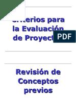 Clase 4 Indicadores Evaluacion de Proyectos
