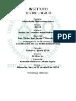 Unidad 3 Investigación Clasificación de Redes Industriales Kenneth