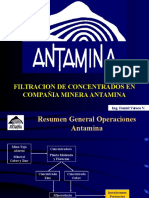 filtracion -antamina
