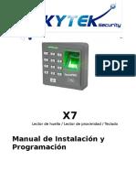 Manual de Lector de Huella X7
