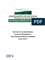 PDD Antioquia 2016 2019