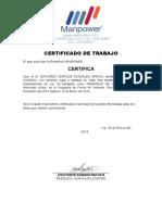 Certificado de Trabajo 02