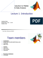 Lecture 1 - Introduction to Matlab