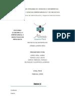Atenea Joyeria Peru Proyecto de Exportación