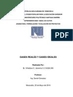 Gases Reales e Ideales Jessenia Villalobbos