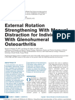 External Rotation Strengthening With Manual Distraction for Individuals With Glenohumeral Osteoarthritis
