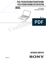 Sony Vaio PCG-FX Series Service Manual