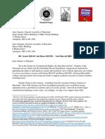 BDS Letter Re MD Boycott Bill 3-3-14