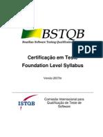 Syllabus 2007br - BSTQB - CTFL